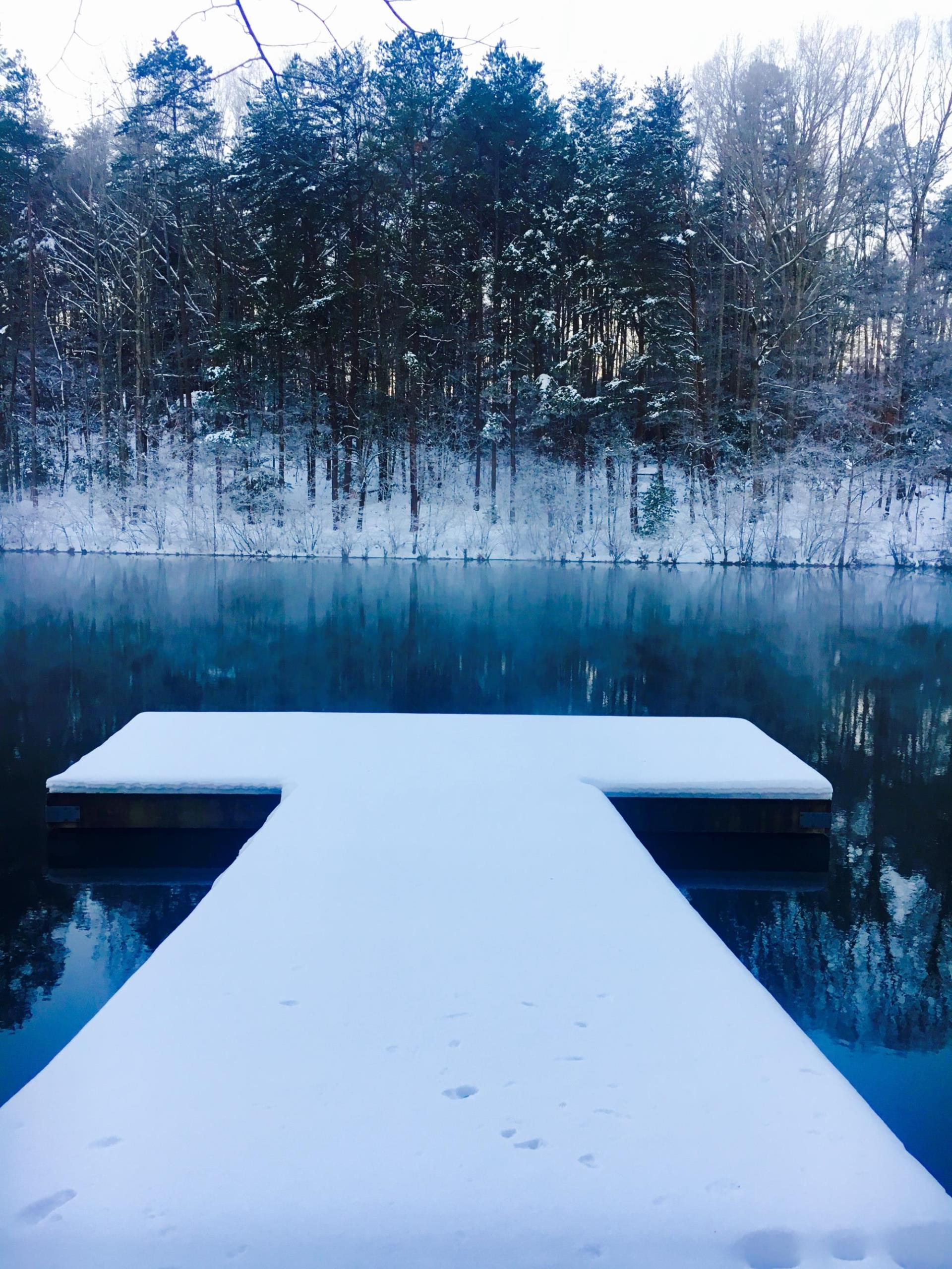 snow pier mayo lake
